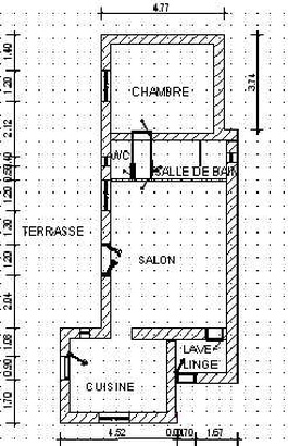 Freinhaus in Bedoin - Treille - Mas des Templiers: Grundriss